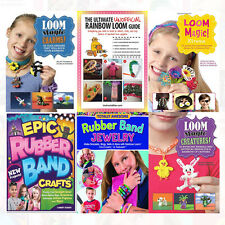 Magic Rubber Band Loom Craft Bracelet 6 Books Collection Set, Charms, Xtreme