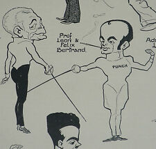 Leon Felix Bertrand Fencing Academy Sabre Championship 1930 Fred May Caricatures