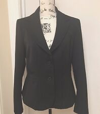 NEW YORK & CO.  Womens Blazer Jacket Lined Button front Black Sz 12 NWT