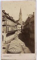 Plombières-les-bains Vosges Francia CDV E.Girardin Vintage Albumina Ca 1865