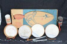 Vintage Toy Sportcraft TAMBURELLI Set Badminton hand Racquet Birdie Shuttlecocks