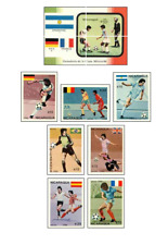 NIC8608 Football block and 7 stamps