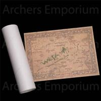 Map of East Farthing Parchment Art Print. Hobbit, LotR. Weta Collectables. New