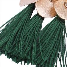 Green Women Tassel Earrings Dangle Alloy Resin Bohemian Fashion Pendant HIGH