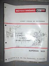Motostandard Gutbrod tracteur SUPERIOR 1025 - 12/1968 : catalogue pièces