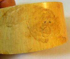 vtg Napkin Ring Asian Chinese Bovine Bone Lion TIGER