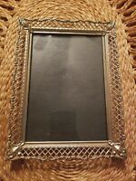 Gorgeous Vintage Ornate Gold Filigree Metal 5x7 Picture Frame