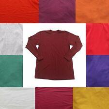 Nike Long Sleeve T-Shirt Men's Cotton Solid Crew Neck Tee Shirt Top