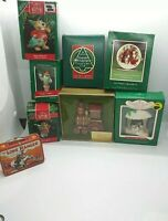Vintage Hallmark Keepsake Christmas Collectors Ornaments Variety Lot of 8 1976+