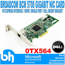Broadcom BCM5708 1 Gigabit Single Port NIC Network Ethernet Card PCI-E 0TX564