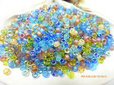 8/0 Fields of France  Mix Miyuki Glass Round Seed Beads 10 Grams