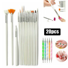 20PCS Nail Art Design UV Gel Set Dotting Painting Drawing Polish Brush Pen Tools