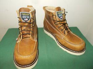 Mens 9 EE Carolina 6 Inch Moc Toe Wedge Work Boot USA Made CA7011 Leather NEW