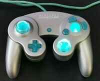Custom LED light up - Official Silver Gamecube Controller (DOL-003) resleeve