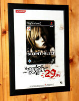 2003 Silent Hill 3 Very Rare Small Poster / Vintage Ad Page Framed PS2 Konami.