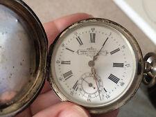 Antique George Favre Jacot Russian Silver Hunter's case Pocket watch rare 23 rub