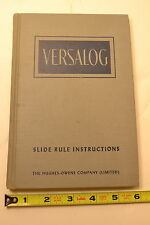 #JB44 THE VERSALOG SLIDE RULE BOOK An Instruction Manual Fiesenheiser 1954