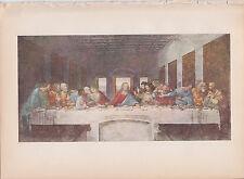 "1939 Vintage ""THE LAST SUPPER"" by LEONARDO DA VINCI Color Art Plate Lithograph"