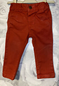 Boys Age 6-9 Months - Next Red Chino Trousers