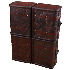 Vintage Jewelry Necklace Bracelet Gifts Box Storage Organizer Wooden Cases H6P3