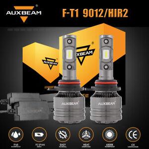 AUXBEAM 9012 HIR2 Canbus LED Headlight Bulbs Hi/Low Beam Super Bright 6500K 70W