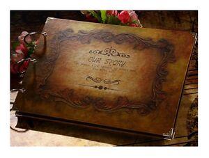 VINTAGE PHOTO ALBUM Wedding Gift Ring Binder Love Album craft paper 30 pages