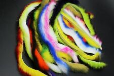10 Colors Double Color Rabbit Zonker Strips Straight Cut Bass Fly Tying Material
