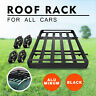 Large Black Universal Aluminum Roof Rack Basket Trailers Toyota Tray