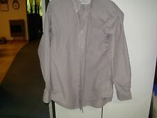 haggar men's size L button front long sleeve checked dress shirt