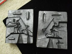 Vintage 2 Piece Rubber Toy Soldier with Flag Figure Mold SR137