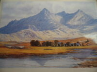 BRAND NEW IN PACKET SOUVENIR CARD PRINT of PAINTING SLIGACHAN SKYE SCOTLAND