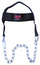 Head Harness Neck Builder Exercise Gym Training Dipping Weight Lifting Chain