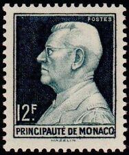 "MONACO N° 305A ""PRINCE LOUIS II 12 F VERT-NOIR"" NEUF x TB"