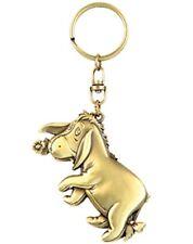 Walt Disney Winnie the Pooh, Eeyore Figure Brass Key Ring Keychain, NEW UNUSED