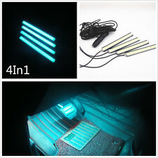 100% Waterproof 4in1 Ice Blue COB LED Vehicle Atmosphere Lights Neon Decor Lamps