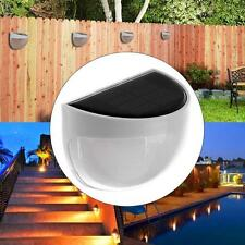 New Solar Power 6 LED Light Garden Lights Outdoor Wall Fence Lamp Cool White