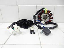 7 WIRE RECTIFIER REGULATOR & 11 POLE COILS AC STATOR MAGNETO FOR GY6 MOTORS
