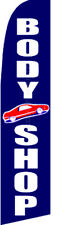 Body Shop Auto Car Repair Swooper Banner Feather Flutter Tall Curved Top Flag