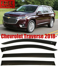 For Chevrolet Traverse 2018- Window Smoke Black Visor Rain Sun Guard Deflectors
