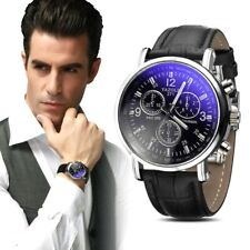 2018Geneva Quality Brand Watch Men Watches Male Clock Leather Strap Quartz Watch