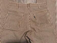 Vintage 1960's Levi's 34/30 Brown/White Striped Pants W/ Big 'E'
