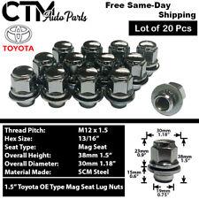 20pcs Toyota Lexus Scion Factory Oem Chrome M12x15 Mag Seat Lug Nut Alloy Wheel Fits Toyota