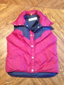 AUTHENTIC VINTAGE KLAUS OBERMEYER LADIES WOMENS MEDIUM PUFFER SKI SNOWBOARD VEST