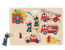Steckpuzzle FEUERWEHR Feuerwehrmann Feuer Kinderholzpuzzle Holzpuzzle Holz NEU