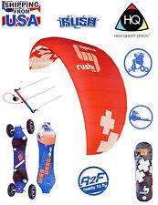 "Hq4 Rush Pro 350 Trainer Power Kite + Atb Assassin Mountain Board + 8"" Tires"