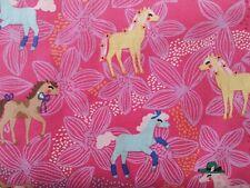 Michael Miller Pretty Ponies pink 100%cotton fabric,fat quarter,freep&p,
