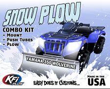 "Yamaha 350 Wolverine - 2005-older  KFI ATV 48"" Snow Plow Combo Kit"