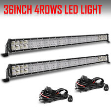 "2PCS QUAD-ROW 36"" Inch 4992W LED Light Bar Combo OFFROAD 4WD TRUCK Driving Lamp"