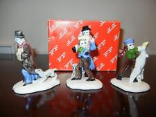 Fitz and Floyd Dickens Christmas Ornament Character Figurines Set of 3 - Nib