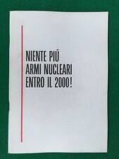 GORBACIOV - NIENTE PIU' ARMI NUCLEARI ENTRO IL 2000 ! (1987) Opuscolo PCI